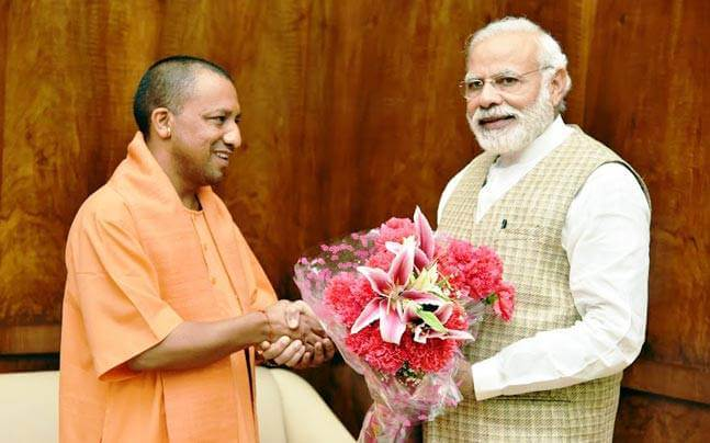 Yogi Adityanath leaves campaigning in poll-bound Karnataka to reach Agra