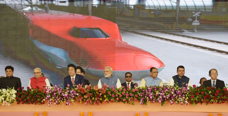 PM Modi and Japanese PM Abe Lay Foundation Stone for India's First High Speed Rail Project			 0					By		mainlogin