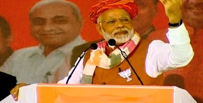 Modi Addresses Public Meeting In Indore, Madhya Pradesh