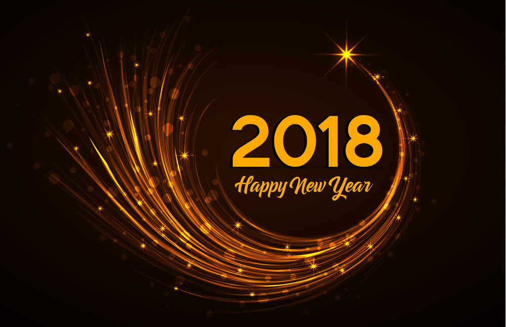 Happy New Year 2018 Design Inspirations
