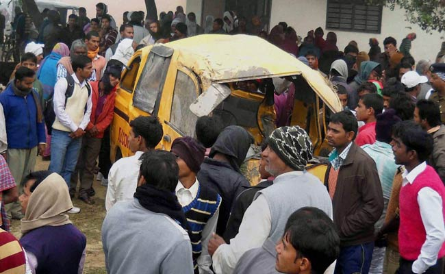 Train Hits School Bus at India Crossing, Killing 13 Children