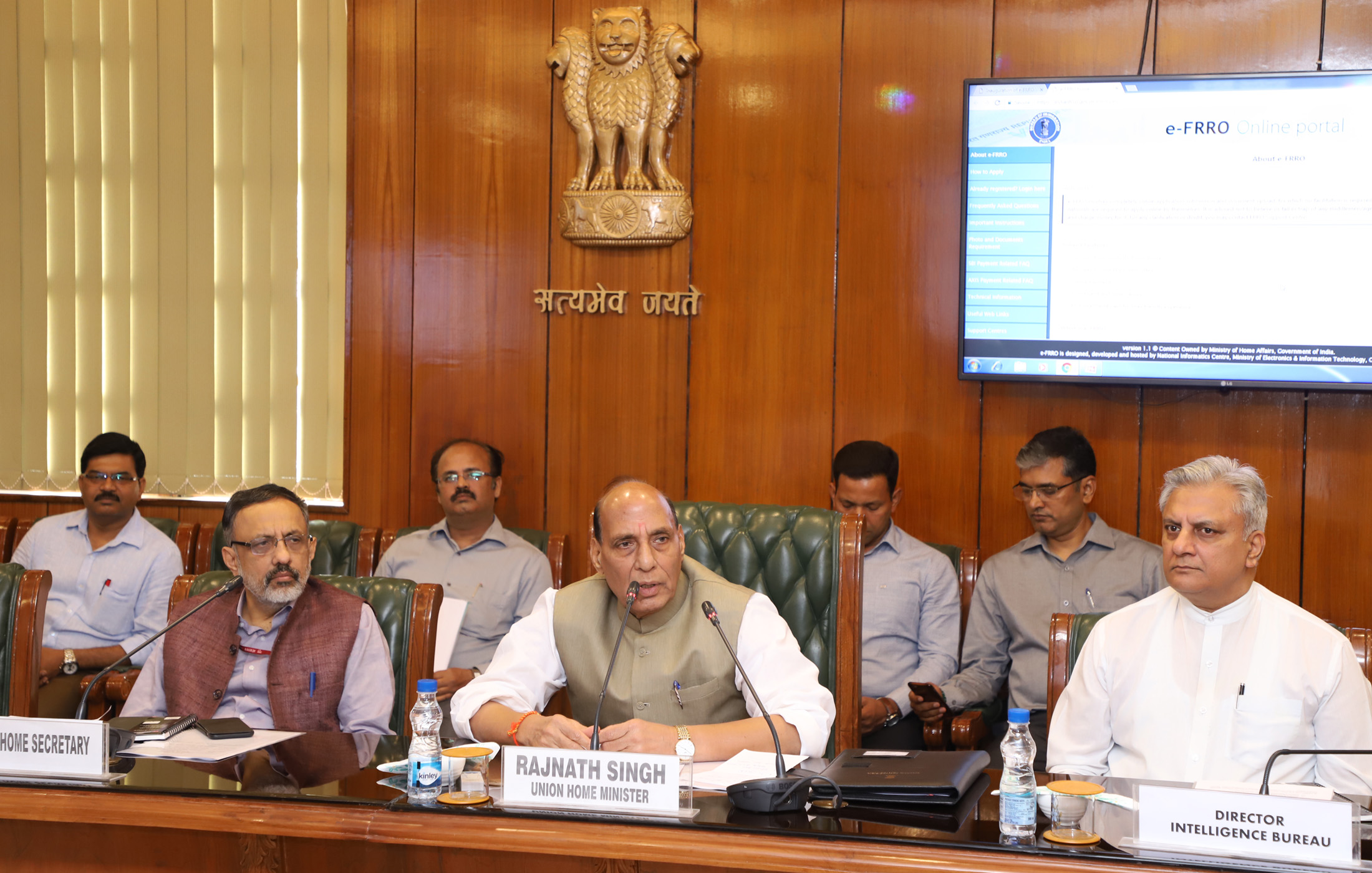 Image result for Rajnath Singh, the Union Home Minister, on April 13, 2018 launched the e-Foreigners Regional Registration Office (e-FRRO) Scheme, a webbased application. The e-FRRO scheme aims to provide fast and efficient services to foreigners visiting India so that they have a pleasant stay