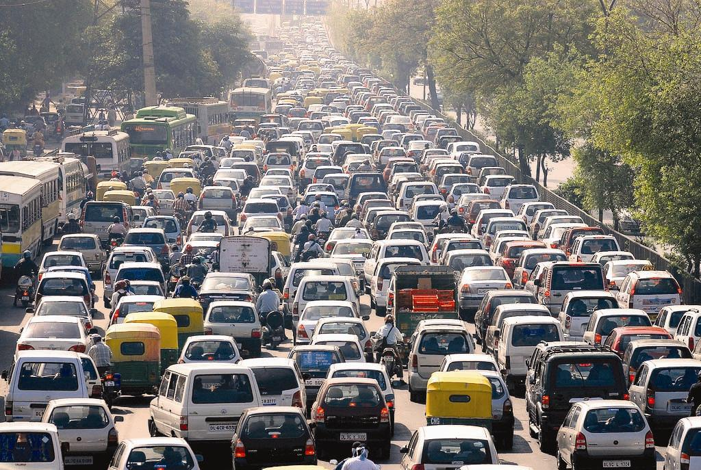 Blue Stickers On Petrol And CNG Cars, Orange For Diesel Vehicles In Delhi NCR Soon -